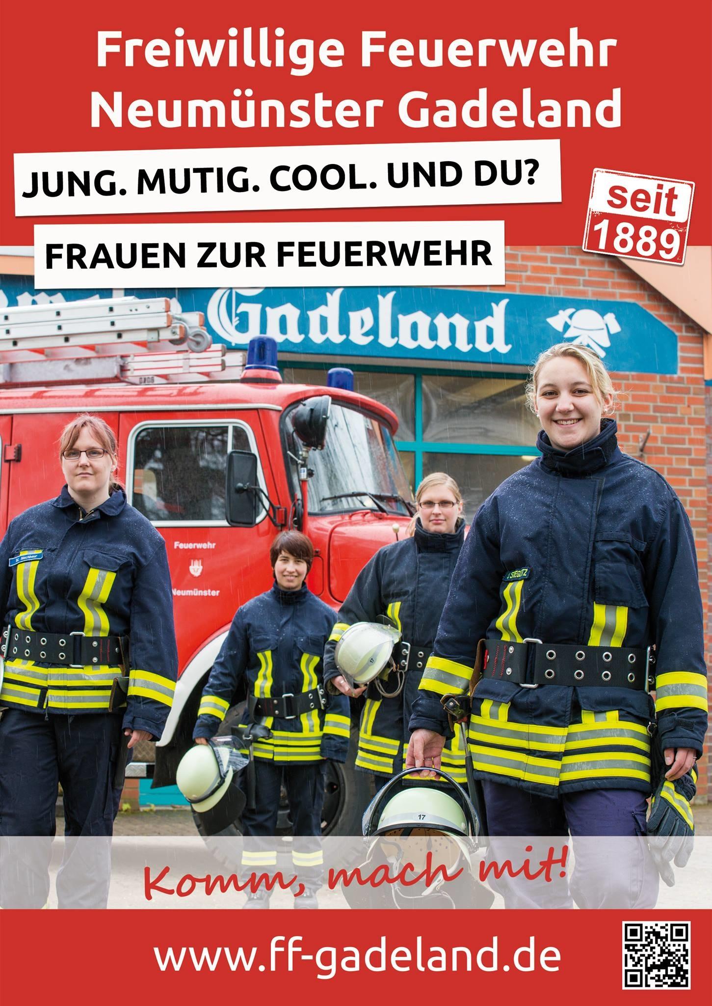 Mitgliederwerbung, Frauen zur Feuerwehr